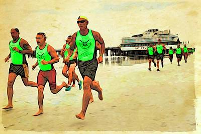 Photograph - Lifeguard Runners by Alice Gipson