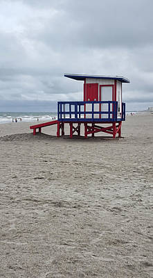 Lifeguard Shack - Cocoa Beach - Florida Art Print by Greg Jackson