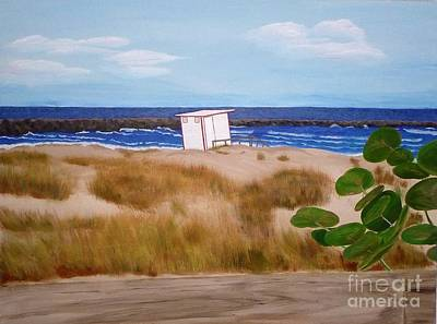 Painting - Lifeguard Shack  by Jennifer Lindquist