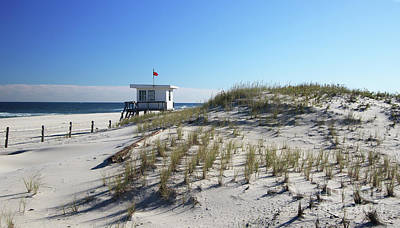 Photograph - Lifeguard Shack  by Mary Haber