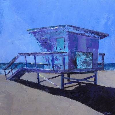 Painting - Lifeguard Shack  by Shannon Celia