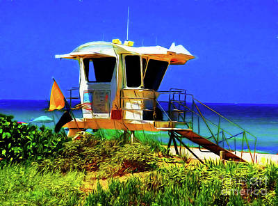 Photograph - Lifeguard Stand 13318 by Ray Shrewsberry