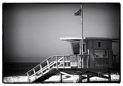 Photograph - Lifeguard Stand At Zuma Beach by John Rizzuto
