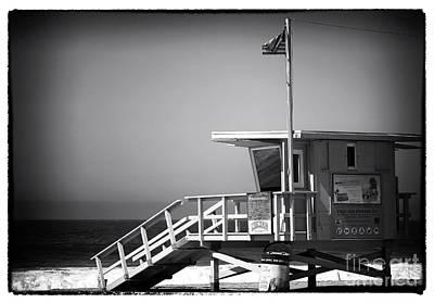 Photograph - Lifeguard Stand At Zuma Beach by John Rizzuto