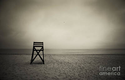 Empty Chairs Photograph - Lifeguard Stand  by John Greim