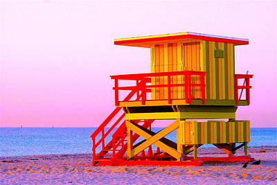 Photograph - Lifeguard Stand Miami Beach by Monique's Fine Art