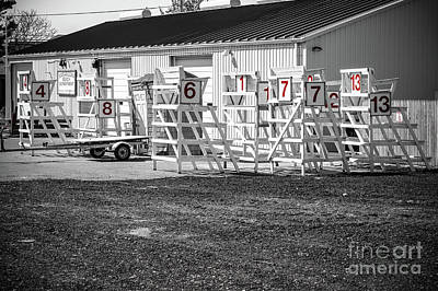 Photograph - Lifeguard Stands - Black And White by Colleen Kammerer
