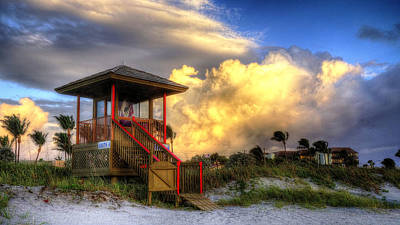 Photograph - Lifeguard Station 4 by Lawrence S Richardson Jr