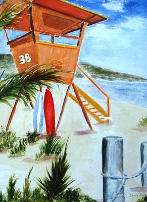 Painting - Lifeguard Station by Jamie Frier