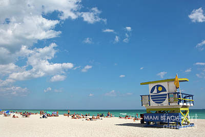 Photograph - Lifeguard Station Miami Beach Florida by Steven Frame