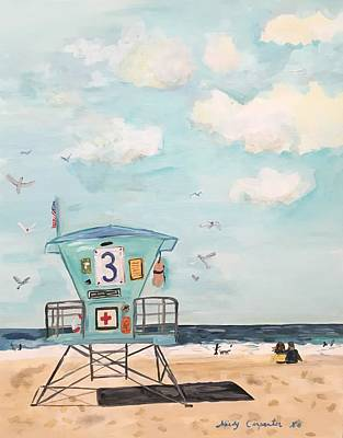 Painting - Lifeguard Station by Mindy Carpenter