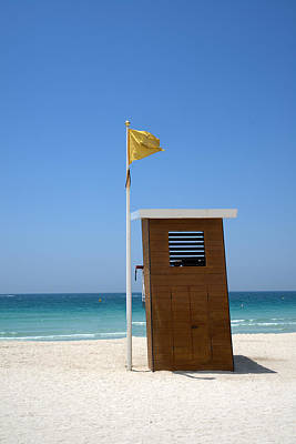 Photograph - Lifeguard Station On A Deserted Beach by Alexandre Rotenberg