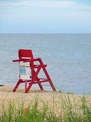Photograph - Lifeguard Station by Tim Townsend