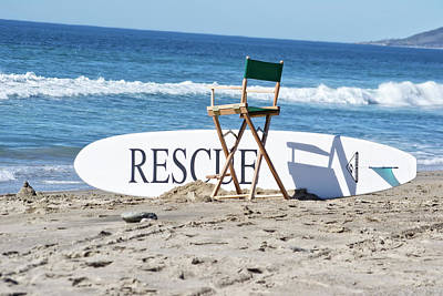 Photograph - Lifeguard Surfboard Rescue Station  by Anthony Murphy