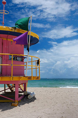 Lifeguard Tower - South Beach - Miami Art Print