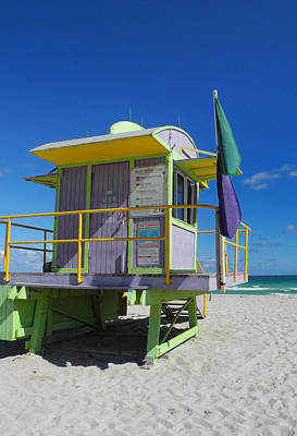 Lifeguard Tower 2 - South Beach - Miami Art Print