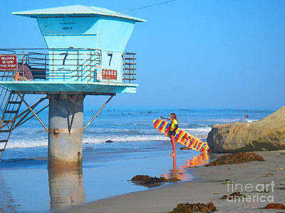 Digital Art - Lifeguard Tower 7 by Waterdancer
