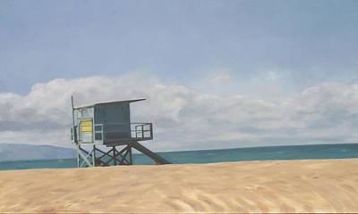 Lifeguard Tower Art Print by Merle Keller