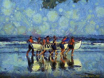 Lifeguards At Work  Original by Richard Worthington