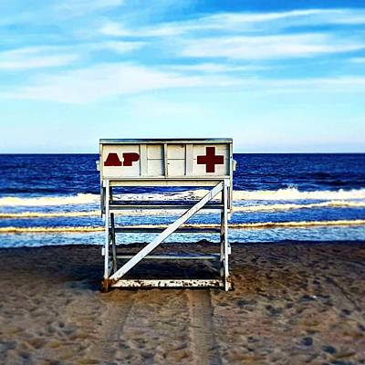 Lifeguard's Haven Print by Malcolm  Virgil