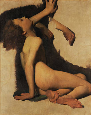 Another Painting - Lifeless Naked Young Man by Antonio Ciseri