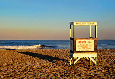 Photograph - Lifeguard Stand At Ocean City Nj by Carolyn Derstine
