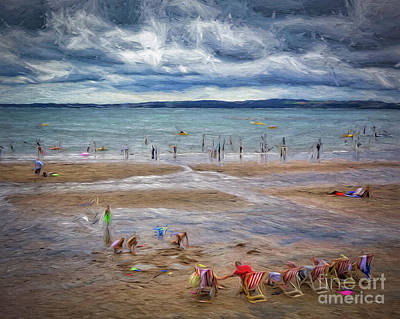 Digital Art - Life's A Beach by Edmund Nagele