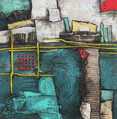 Squares Mixed Media - Life's Rough, Beautiful Messy Bits by Laura Lein-Svencner