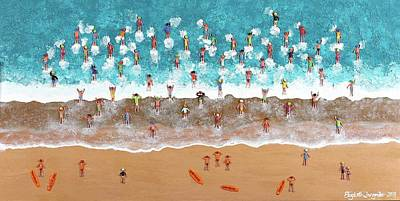 Painting - Lifesavers by Elizabeth Langreiter