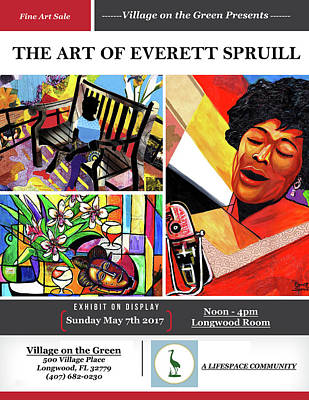 Mixed Media - Lifespace Exhibition Poster by Everett Spruill