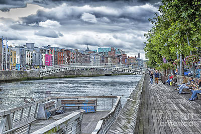 Photograph - Liffey Boardwalk Dublin by Jim Orr