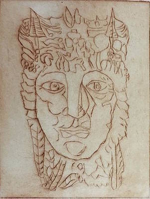 Drawing - Liffey by Roger Cummiskey