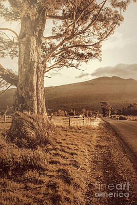 Old Country Roads Photograph - Liffey Vintage Rural Landscape by Jorgo Photography - Wall Art Gallery