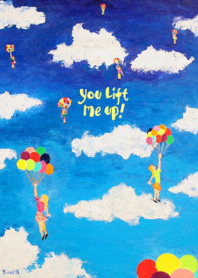 Painting - Lift Me Up Greeting Card by Thomas Blood
