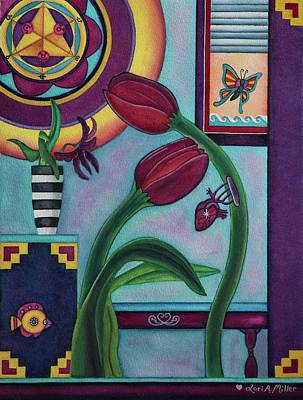 Painting - Lifting And Loving Each Other by Lori Miller