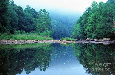 Williams River Scenic Backway Photograph - Lifting Fog Baptizing Hole by Thomas R Fletcher