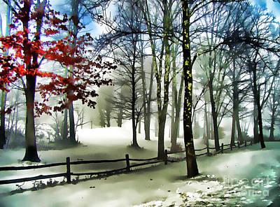 Lifting Fog Art Print by Betsy Zimmerli