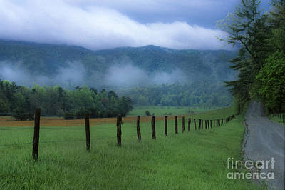 Photograph - Lifting Fog In Cades Cove by Sandra Bronstein