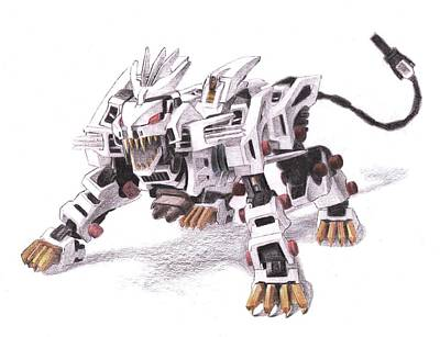 Liger Drawing - Liger Z by Chris Meyers
