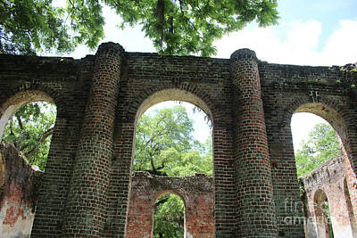 Civil War Site Photograph - Light Above The Ruins by Carol Groenen