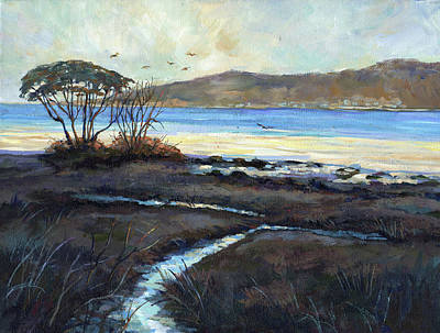 Painting - Light Across The Inlet by Peggy Wilson