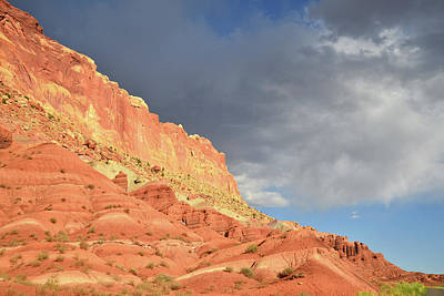 Photograph - Light After The Storm On Capitol Reef by Ray Mathis