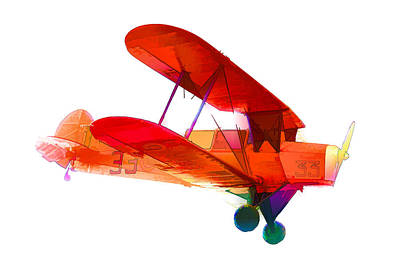 Bi-plane Painting - Light Aircraft  by Lanjee Chee