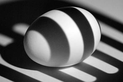 Photograph - Light And Egg 17 by Isam Awad