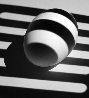 Photograph - Light And Egg 20 by Isam Awad
