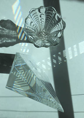 Photograph - Light And Reflections With Glass Objects by Barbara Budish