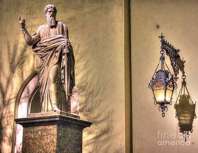 Pyrography -  Light And Shadow, And The Monument by Yury Bashkin