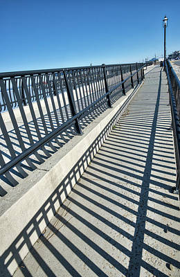 Photograph - Light And Shadow At Keyport Waterfront by Gary Slawsky