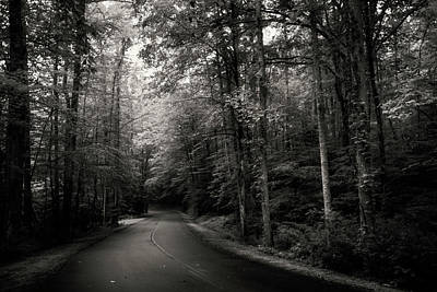Shadow Photograph - Light And Shadow On A Mountain Road In Black And White by Greg Mimbs