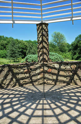 Photograph - Light And Shadows In The Gazebo by Gary Slawsky
